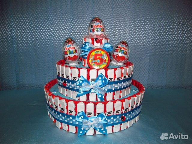 Торт из киндеров и ммдемсом