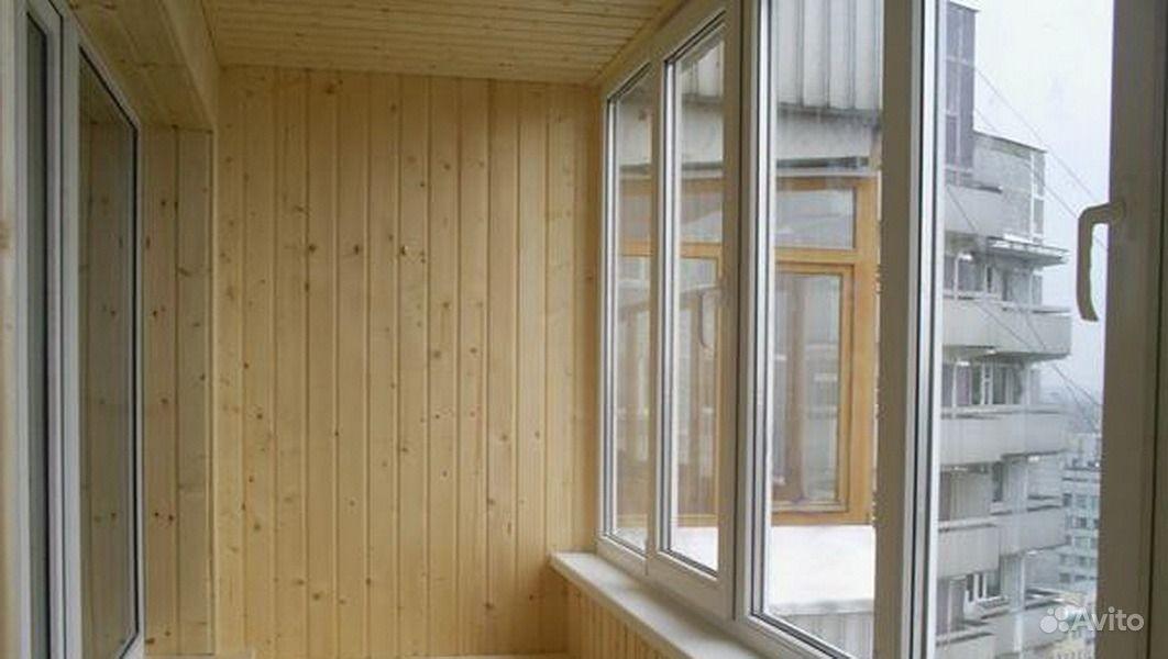 Предложение: обшивка балконов вогонкой и пластиком, город.