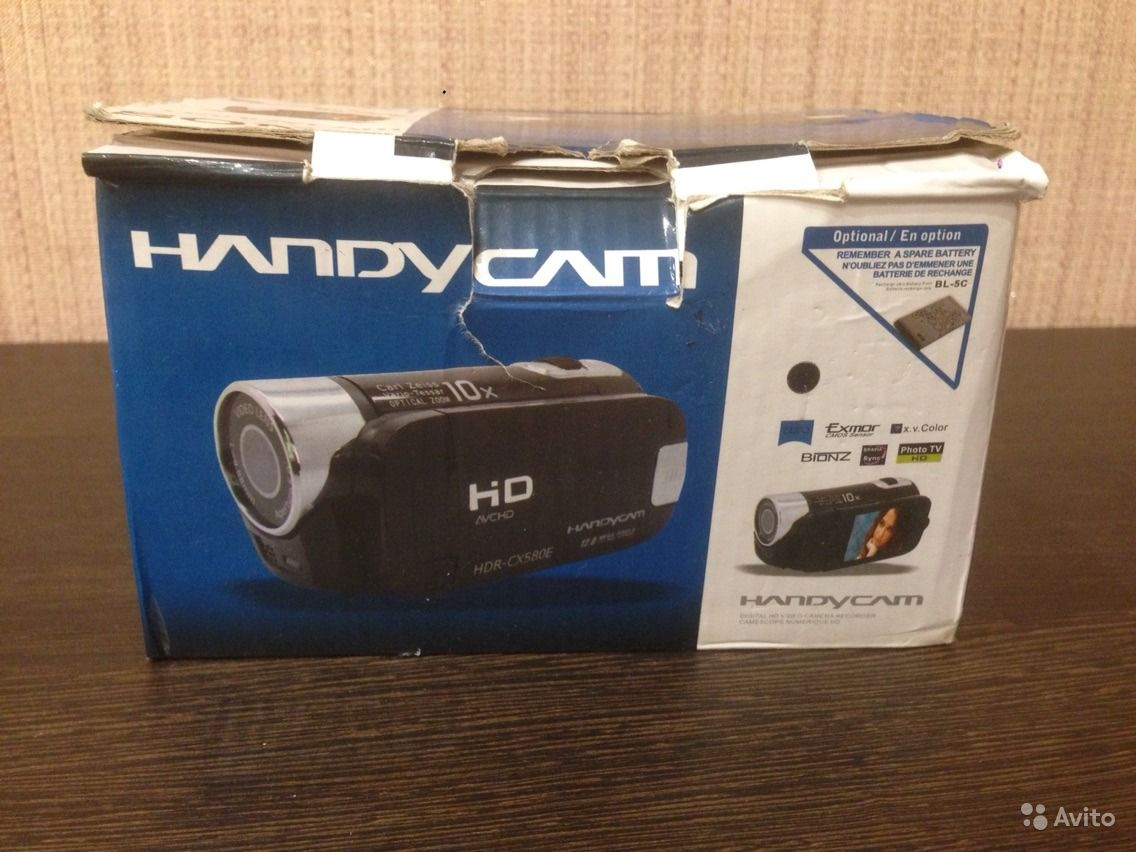 инструкцию sony handycam hdr cx580e