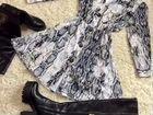 Платье, Костюм трикотажный, кардиган, ботфорты