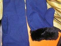 Меховые рукавицы, Кролик. Овчина. Фабричные. Новые — Охота и рыбалка в Санкт-Петербурге