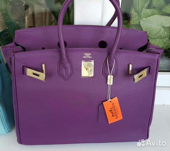 37ac06d11da2 Женская сумка Hermes Birkin фиолетовая купить в Москве на Avito ...
