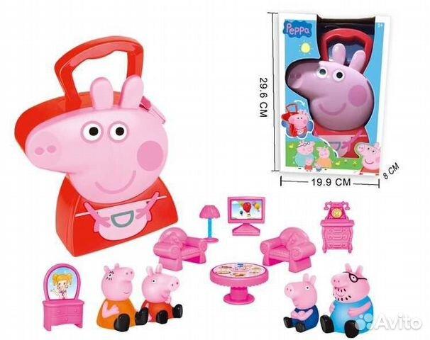игры свинка пеппа ставить мебель