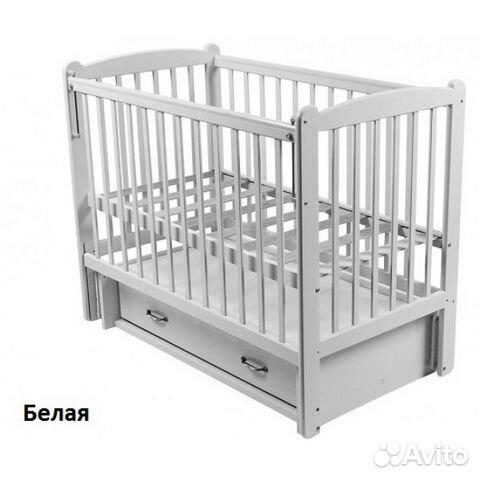 детская деревянная кроватка счастливый малыш кроха