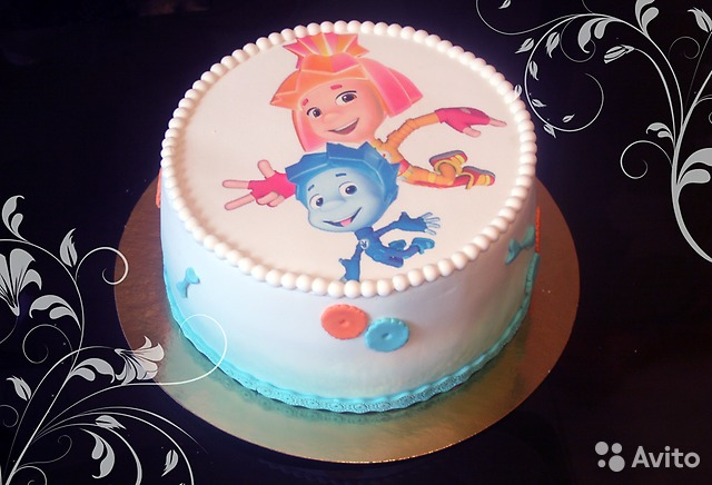 Печать картинки на фото торт