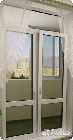 Балконная дверь двустворчатая фото..