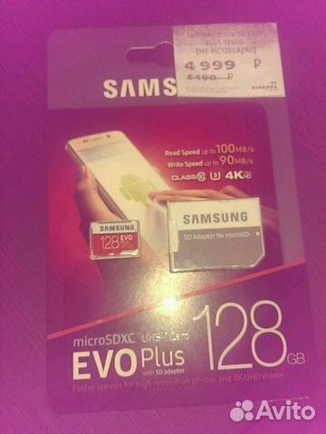 Флеш-карта Micro SD EVO plus 128 GB