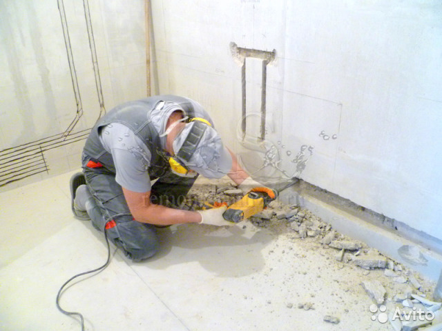 Штробление в бетоне ручная заливка бетона
