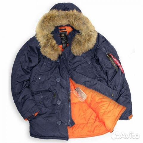 f10c8d5e57a Куртка мужская N-3B Slim Fit натуральный мех M
