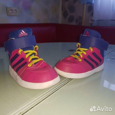 b9bb4012 Детские кроссовки хайтопы Adidas 24 размер купить в Мурманской ...