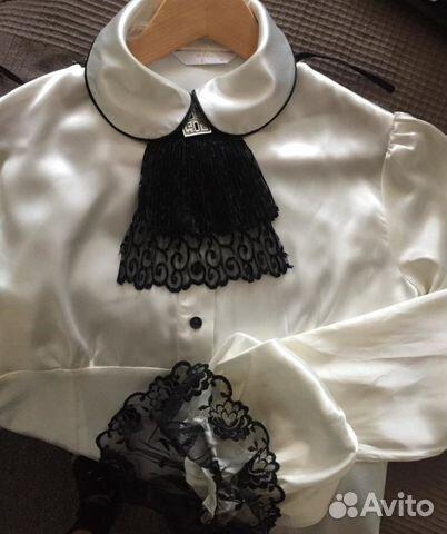 fe066240ffe Блуза с жабо. Шикарная атласная блузка купить в Москве на Avito ...