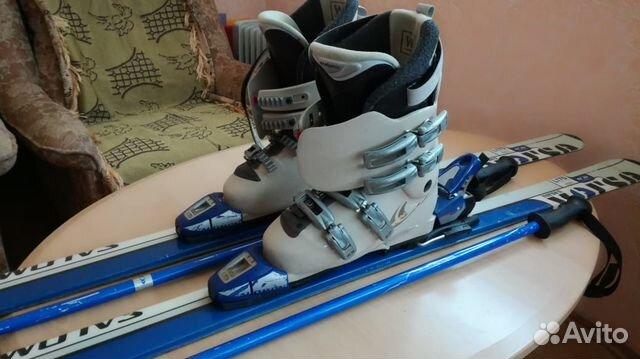 Лыжи + лыжные ботинки Salomon 170 см купить в Краснодарском крае на ... 3d36b25c6ea
