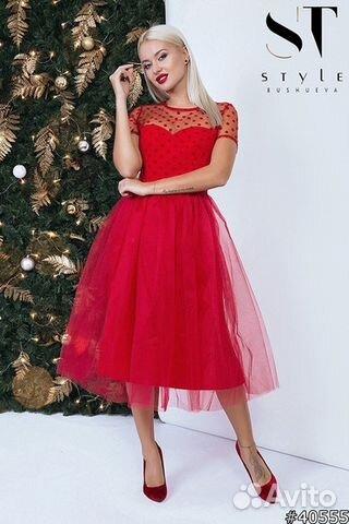 5c4242e8ae83754 Красное пышное платье. Много вещей купить в Красноярском крае на ...