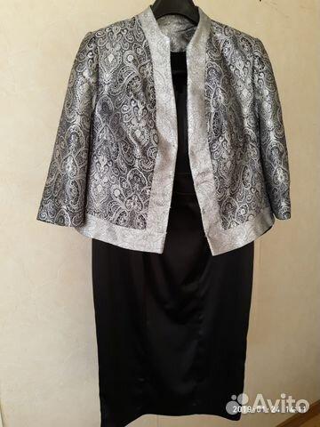80965705305 Платье-костюм черное с пиджаком
