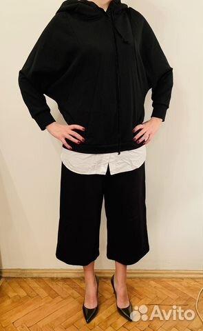 9ad86493319 Черная толстовка Zara с вшитой блузой и капюшоном