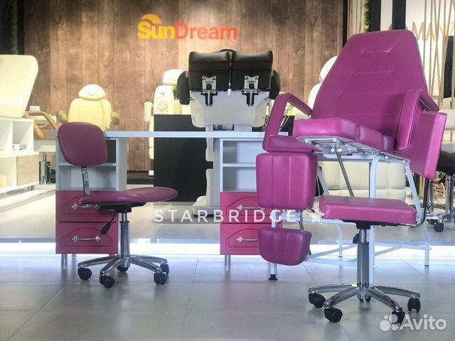 Кресло педикюрное цв. розовый 89282266618 купить 7