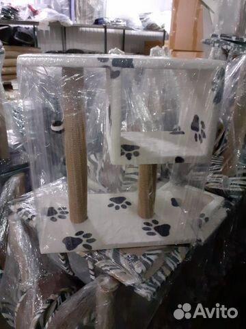 Когтеточка (столбик с полкой)