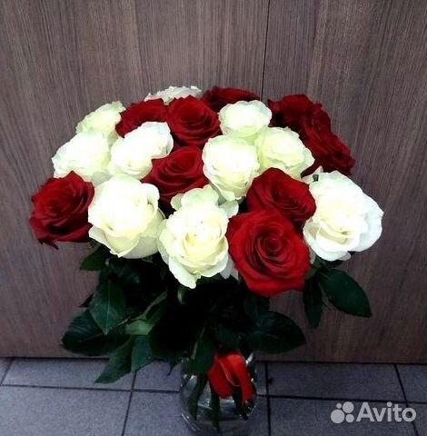 19 микс роз с доставкой за час + 2 подарка