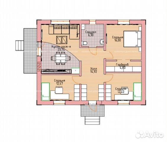 Коттедж 90 м² на участке 7 сот. 89587925197 купить 2