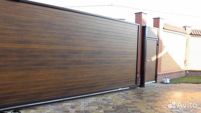 Откатные алюминиевые ворота  89375068699 купить 1