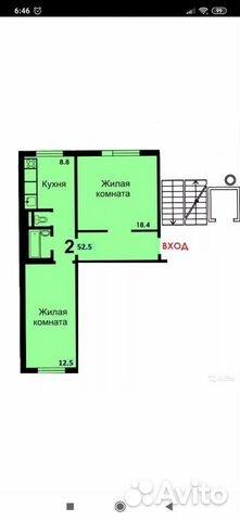 2-к квартира, 53 м², 5/9 эт. 89822754570 купить 6