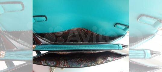 ccc36357409f Бирюзовый клатч La Reine Blanche купить в Смоленской области на Avito —  Объявления на сайте Авито