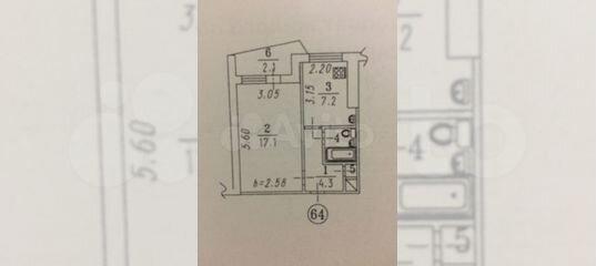 1-к квартира, 32 м², 10/12 эт.