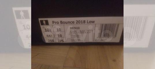 wholesale dealer 34943 02879 Баскетбольные кроссовки adidas PRO bounce 2018 LOW купить в Московской  области на Avito — Объявления на сайте Авито