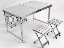 Складной стол для пикника +4 стула