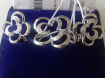 Комплект из белого золота 585* с бриллиантиками