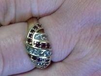 Кольцо с бриллиатами и рубинами