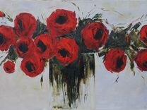 """Картина """"Красные цветы"""""""