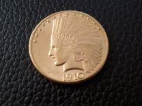 10 долларов США. 1910 г. Золото