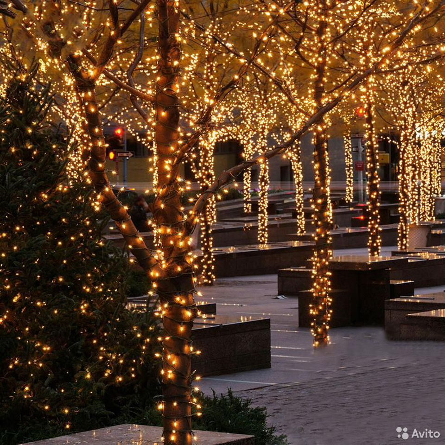 Гирлянды на дерево новогоднее оформление  89613169763 купить 1