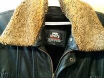 Мужская кожаная куртка (зима/демисезон)