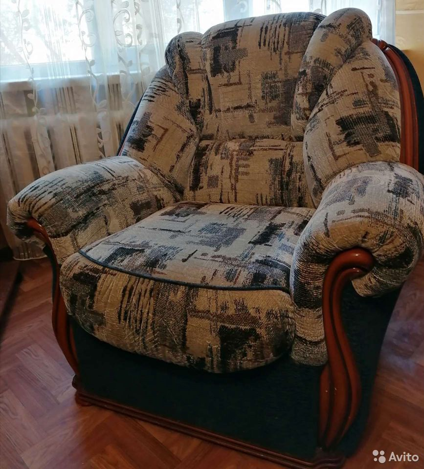 Диван и 2 кресла. отличное состояние  89023805566 купить 10