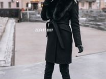 Пальто зимнее с мехом — Одежда, обувь, аксессуары в Москве